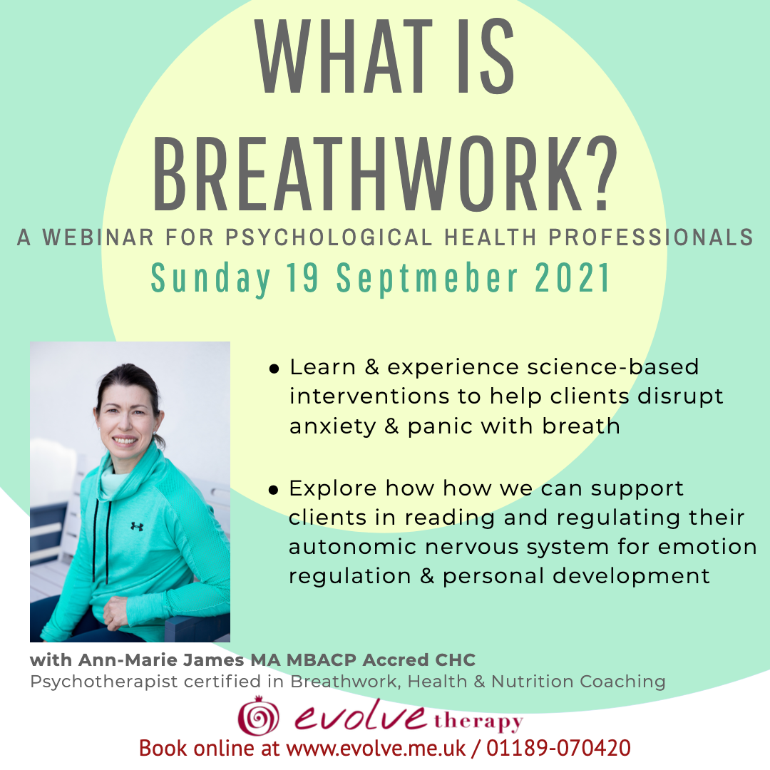 Now booking:  What is Breathwork Webinar for psychological health professionals